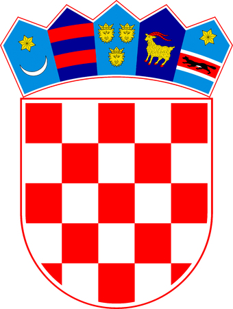 National coat of arms of the Republic of Croatia. Stock Photo