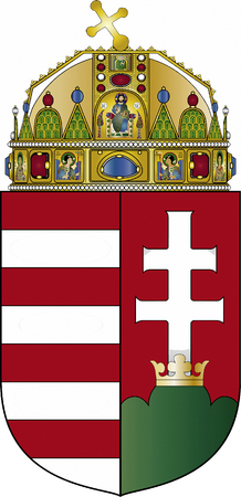 National coat of arms of the Republic of Hungary.