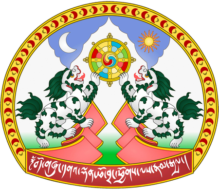 Coat of arms of Tibet and the government in exile with seat in India.