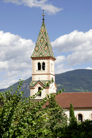 Parish church of St. Michael in the municipality of Eppan at the South Tyrolean wine route - Italy.