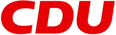 Logo of German political party Christian Democratic Union of Germany CDU - Germany.