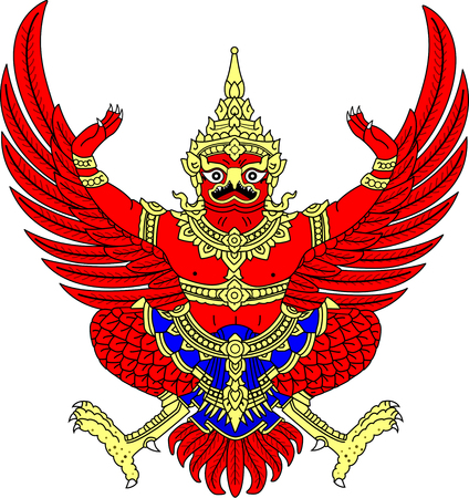 National coat of arms of the Kingdom Thailand.