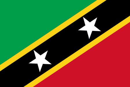Flag of Saint Kitts and Nevis - Commonwealth. Reklamní fotografie