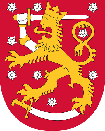 National coat of arms of Finland. Stock Photo