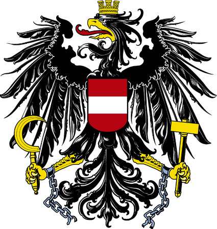 National coat of arms of the Republic of Austria.