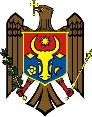 National coat of arms of the Republic of Moldova.