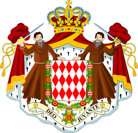 Coat of arms of the Principality of Monaco. 版權商用圖片 - 117441891