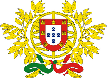National coat of arms of the Portuguese Republic. Stok Fotoğraf