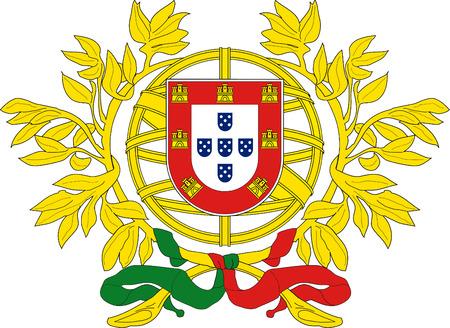 National coat of arms of the Portuguese Republic. Banco de Imagens