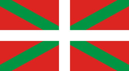Flag of the Spanish autonomous community Basque Country - Spain. Foto de archivo