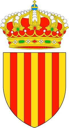 Coat of Arms of the Spanish Autonomous Community Catalonia - Spain.