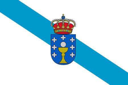 Bandiera della comunità autonoma spagnola Galizia - Spagna. Archivio Fotografico