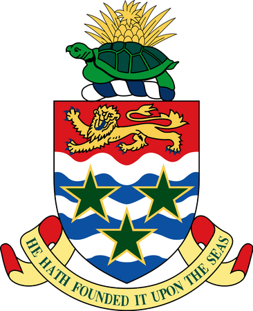 Coat of arms of the British overseas territory Cayman Islands.