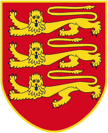 Coat of arms of the British Crown Dependency Jersey.