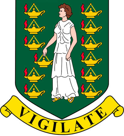 Coat of arms of the British Virgin Islands.