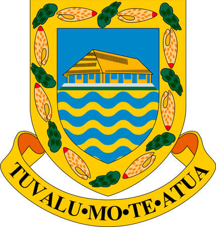 Coat of Arms of Tuvalu - Commonwealth of Nations.