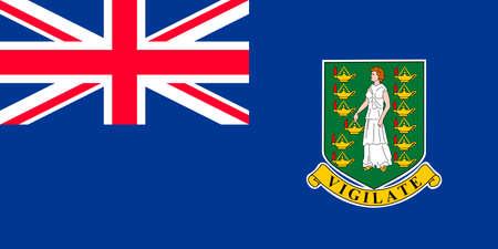 Flag of the British Virgin Islands.
