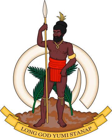 Coat of arms of the Republic of Vanuatu. Banque d'images