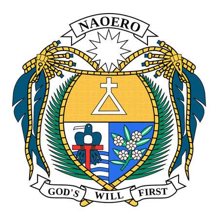 National coat of arms of the Republic of Nauru.