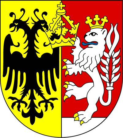 Coat of arms of the German city Goerlitz of Saxony - Germany. Editorial