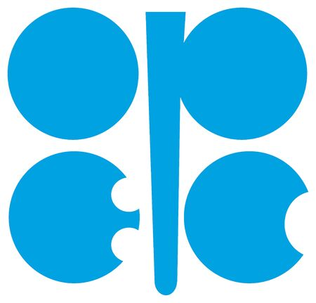 Logo of the Organization of Petroleum Exporting Countries OPEC with seat in Vienna. Editorial