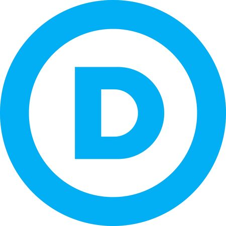 Logo of the Democratic Party of the United States of America.