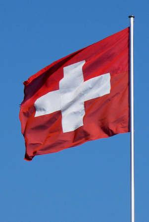 National flag of Switzerland. Banque d'images