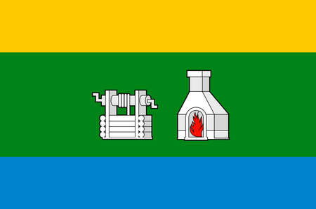 Flag of the Russian city Yekaterinburg - Russia. Banque d'images