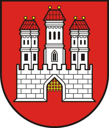 Coat of arms of the Slovakian capital city Bratislava - Slovakia.