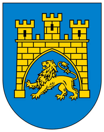 Coat of arms of the Ukrainian city of Lviv - Ukraine.