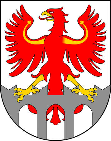 Municipal coat of arms of the city Merano in the South Tyrol - Italy.