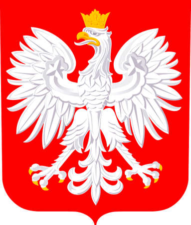 National coat of arms of the Republic of Poland. Banque d'images