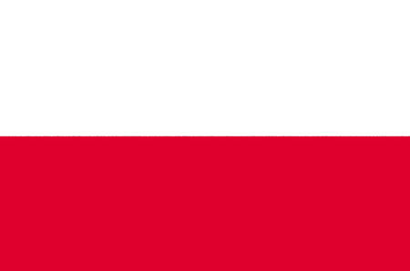 National flag of the Republic of Poland.