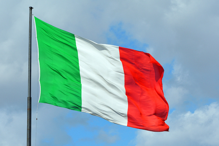 Italiaanse nationale vlag.