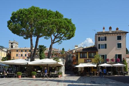 Historical center of the city of Garda on Lake Garda - Italy.