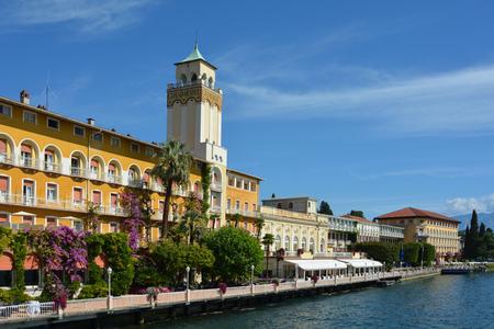 The historic Grand Hotel on the shores of Lake Garda in Gardone Riviera - Italy.