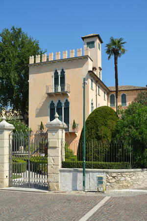 Villa Terzi on the coastal promenade in Bardolino on the shore of Lake Garda - Italy.