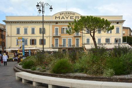 Hotel Splendid Mayer in the city center of Desenzano on Lake Garda - Italy. Editorial