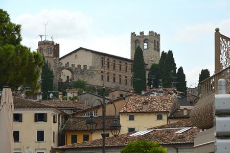 Castello in the historical center of Desenzano del Garda on Lake Garda - Italy. Editorial