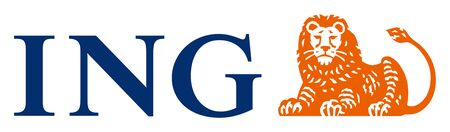 Logo of the Dutch financial service provider ING Groep N.V. with seat in Amsterdam - Netherlands.