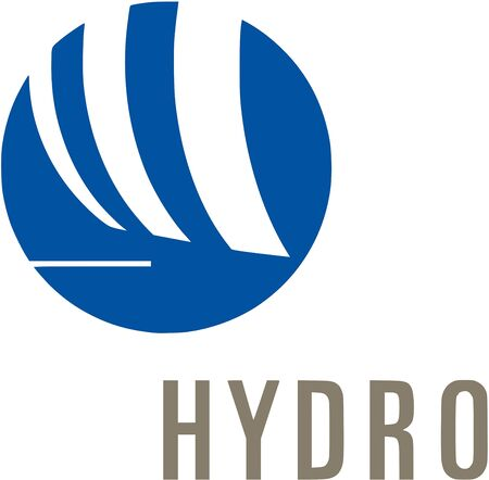 Logo of the Norwegian aluminium and renewable energy company Norsk Hydro ASA with seat in Oslo - Norway.