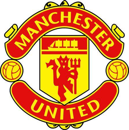 Logo de l'équipe de football anglais Manchester United - Royaume-Uni.