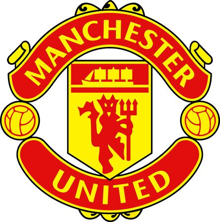 Logo della squadra di calcio inglese Manchester United - Regno Unito.