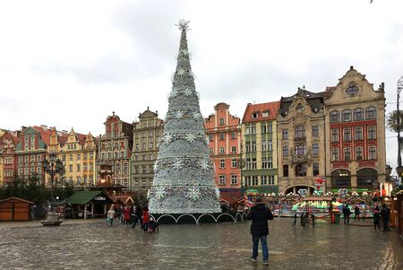 Christmas market at the Old town of Wroclaw - Poland.