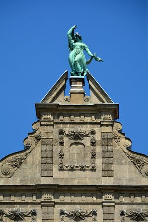Gable of the Nicolaus Copernicus University in Torun - Poland.