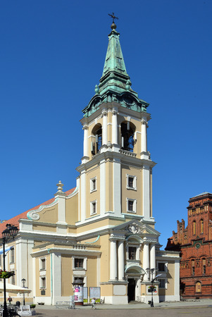Holy Spirit Church on the market place Rynek Staromiejski in Torun - Poland.