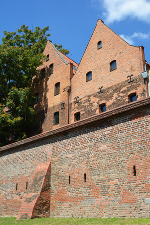City wall in the polish city Torun - Poland.