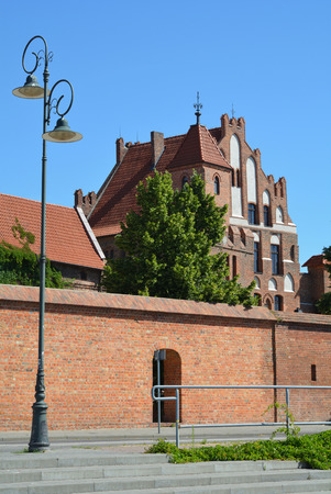 Citizen Court with defence tower and city wall in Torun - Poland.