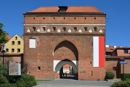 Cloister gate as a part of the city fortification of Torun - Poland. Editorial