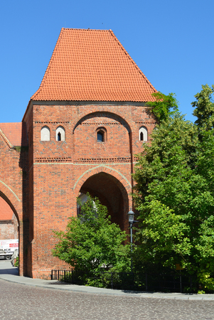 Defence tower from the 13th century in Torun - Poland.